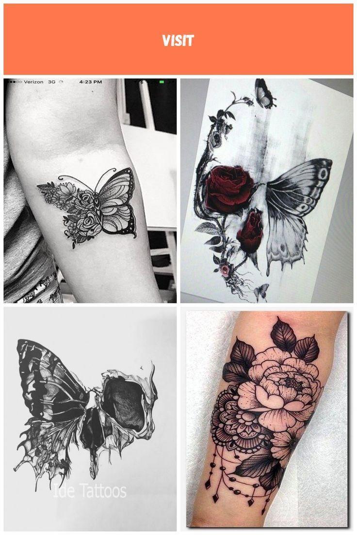 Photo of Flower butterfly tattoo half butterfly tattoo –  # –  Flower butterfly tattoo ha…