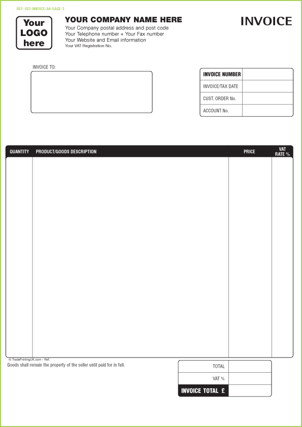 invoice templates printable free free sage invoice templates