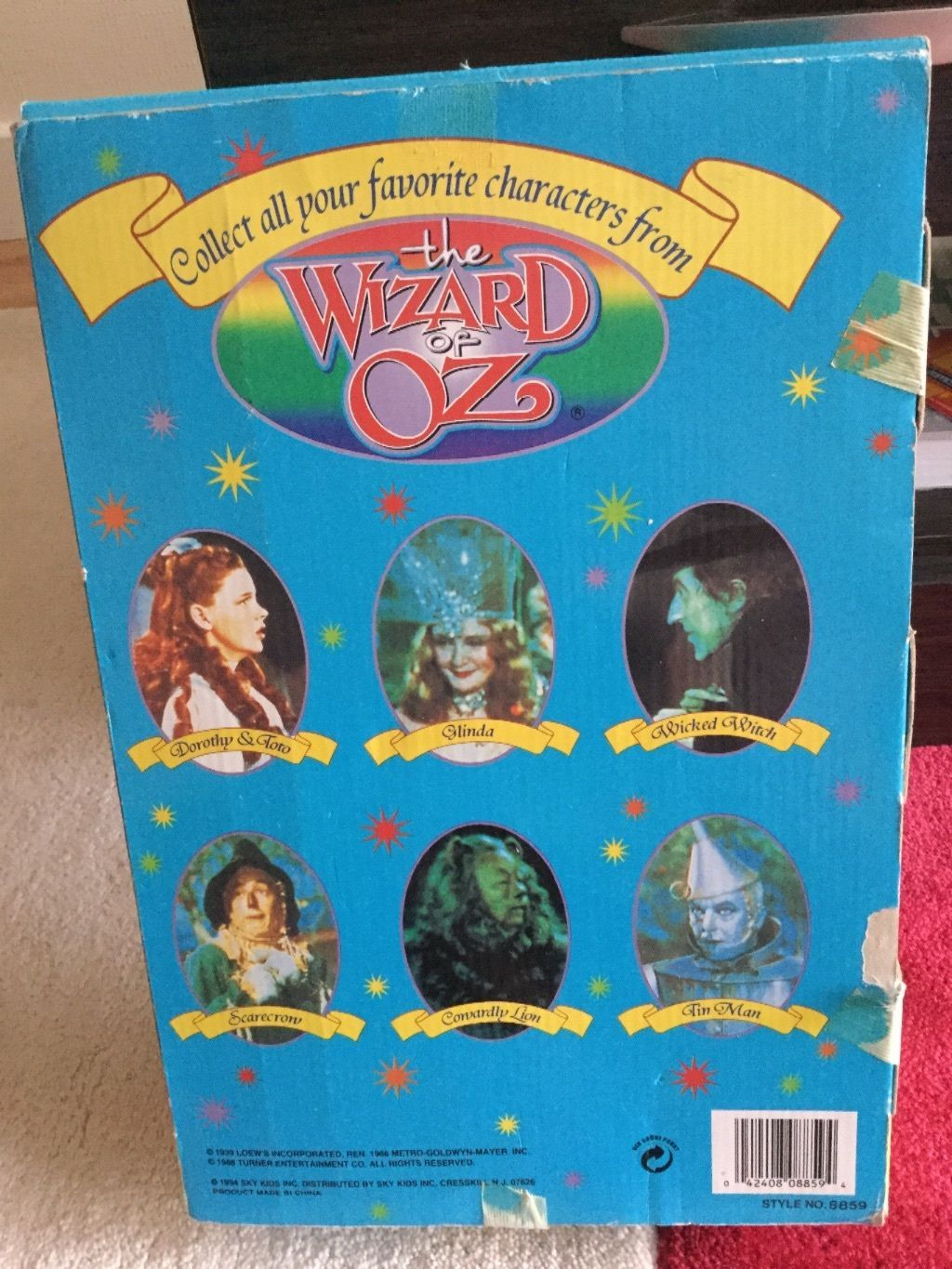 wizard of oz dorothy and toto 1994 vintage sky kids doll ebay