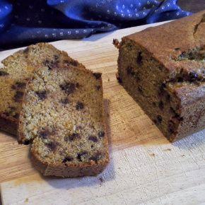 PLUM CAKE CON ZUCCA E GOCCE DI CIOCCOLATO (SENZA GLUTINE &VEGAN)