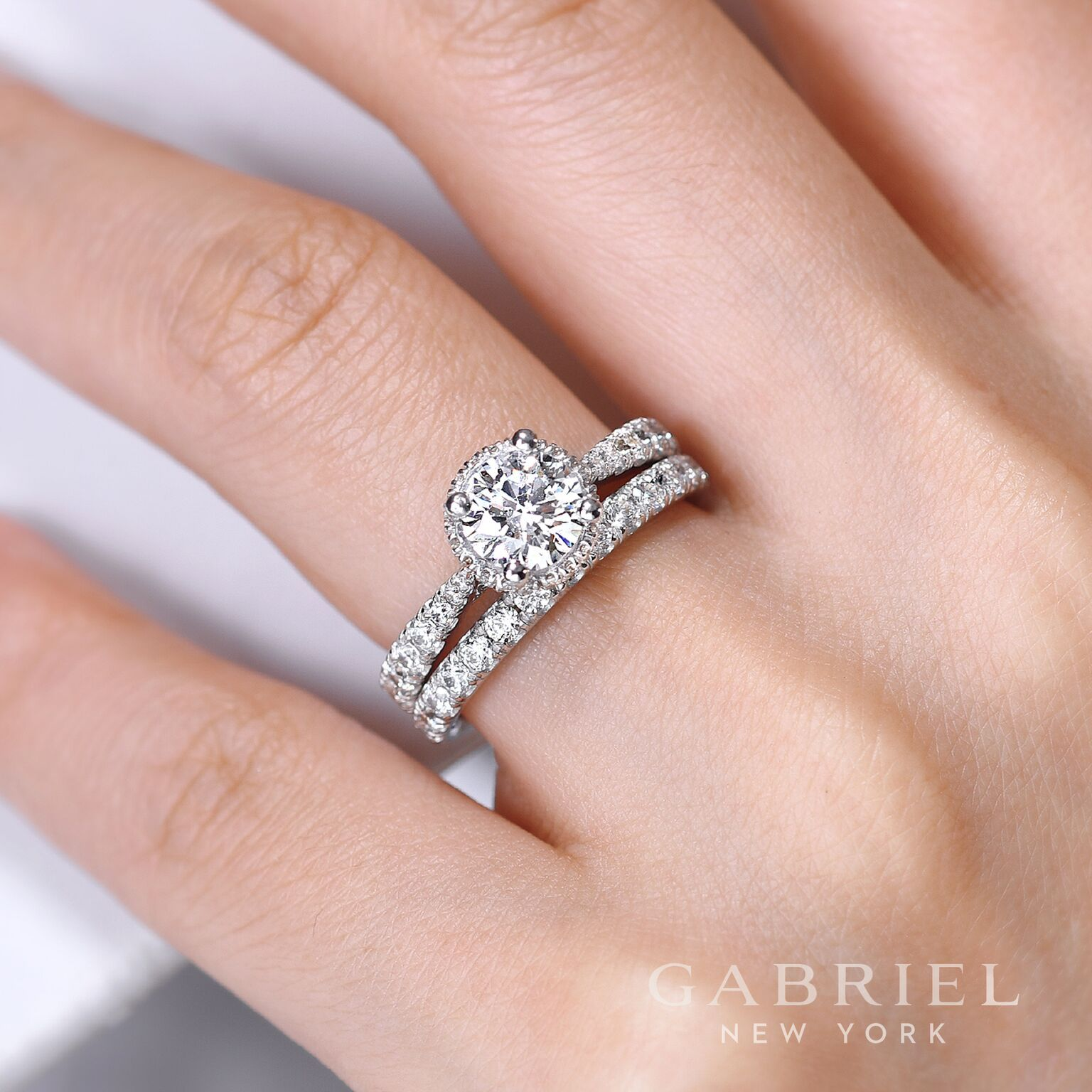 Who Loves the simplicity of this classic wedding set by Gabriel ...