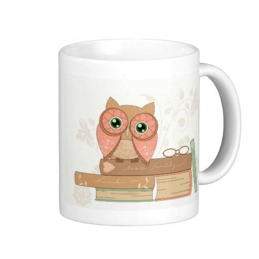 Beautiful Colourful OWL Bone China Mug by Allen Designs