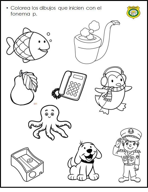 Pin de ero en Fonema p | Pinterest | Lenguaje, Actividades y Lectura