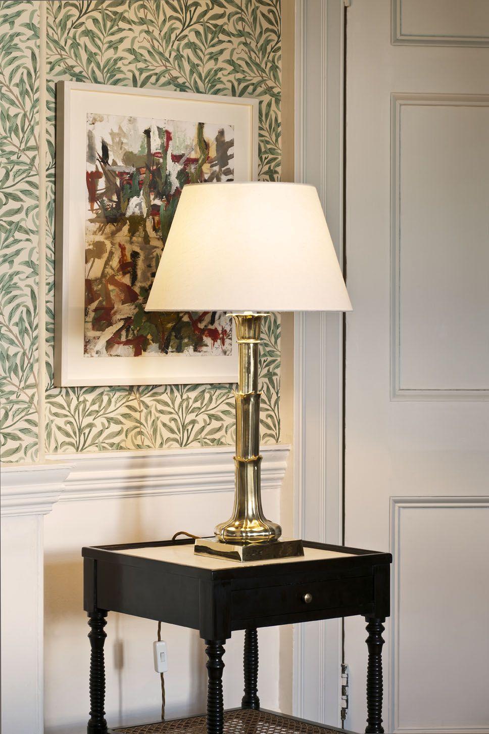 Vaughan S Lotus Leaf Column Table Lamp Furniture Table Fabric