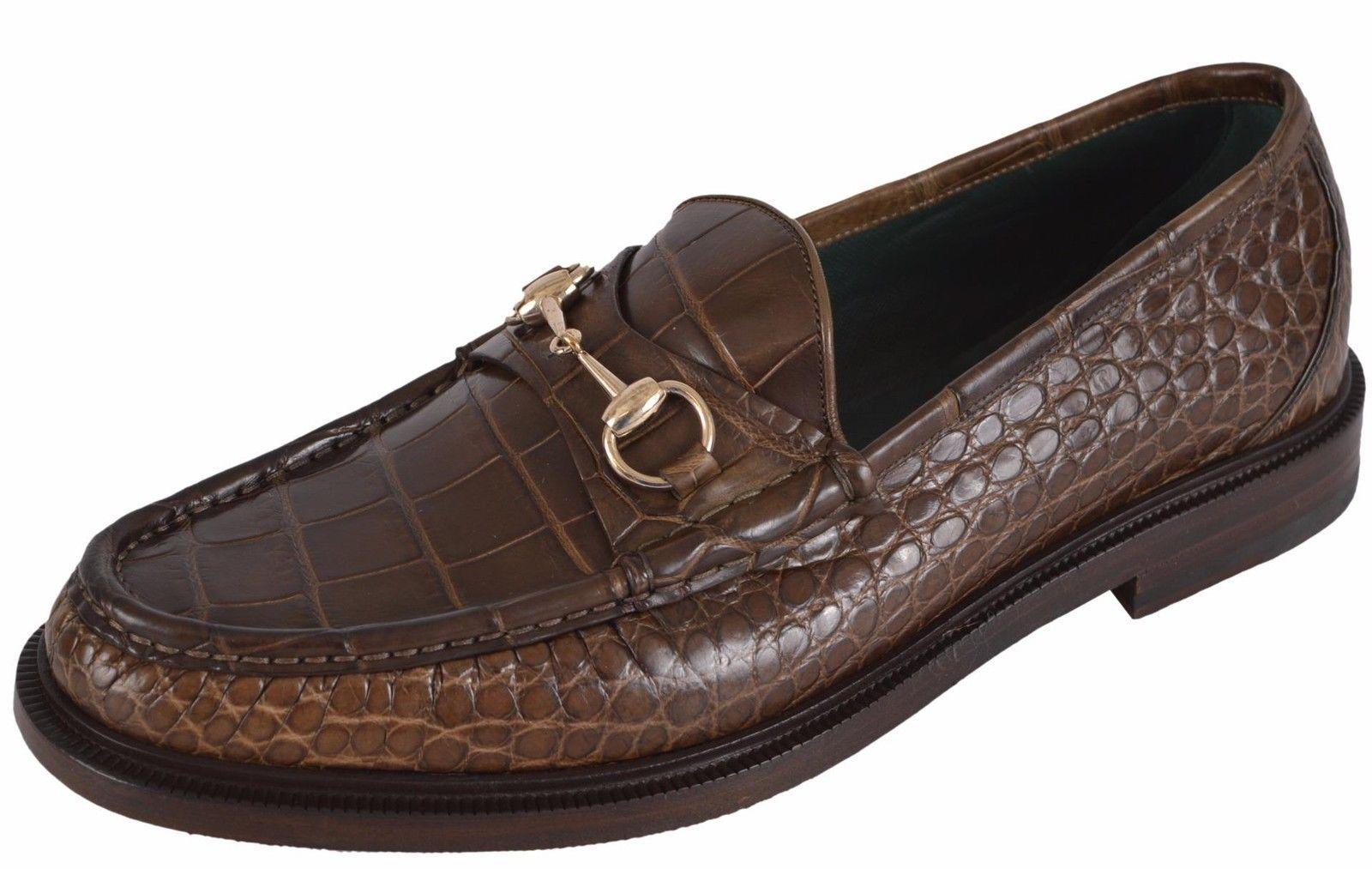 3aca9742a78 Gucci alligator horsebit loafer