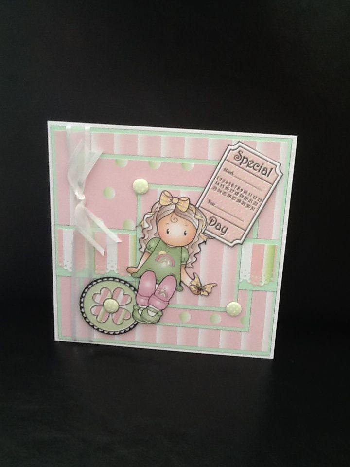 Cute little girl birthday card Festas Pinterest Girl birthday
