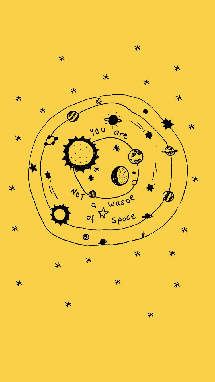 Plain Yellow Aesthetic Background