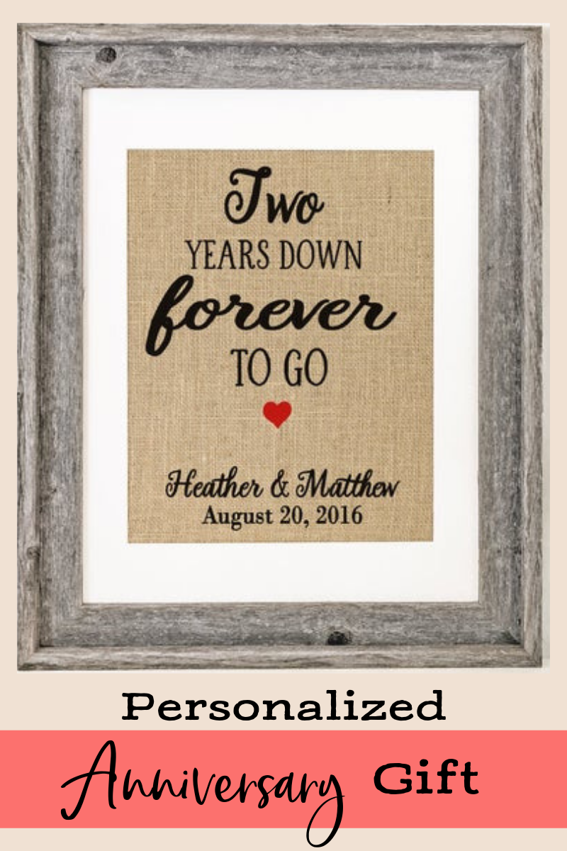 2 Years Down Forever To Go 2nd Wedding Anniversary Gift For Etsy In 2020 2nd Wedding Anniversary Gift 2nd Wedding Anniversary Anniversary Gifts For Husband
