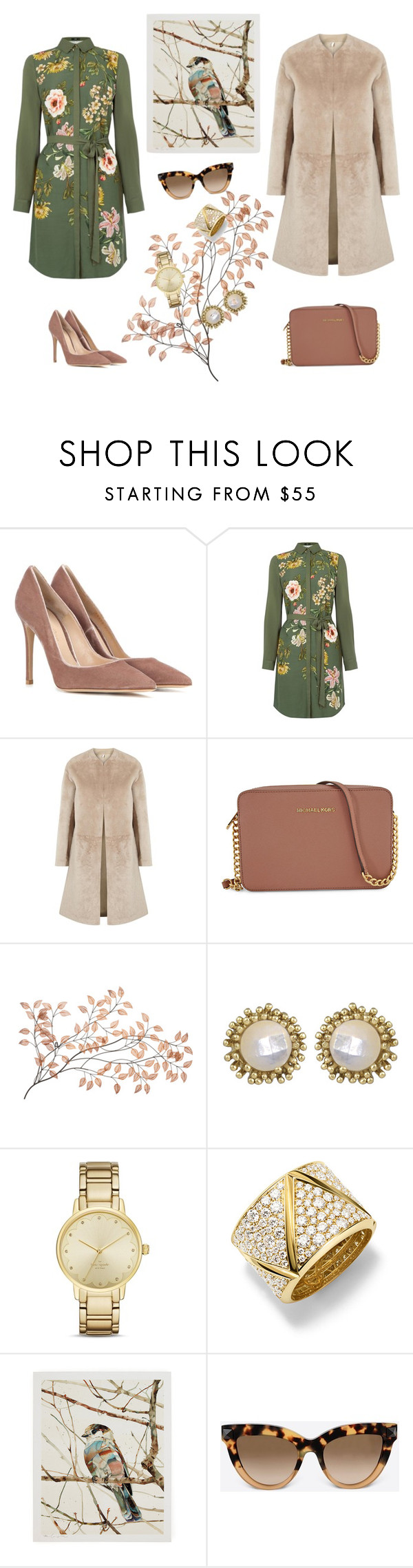 """""""Untitled #133"""" by sanjati ❤ liked on Polyvore featuring Gianvito Rossi, Oasis, Helmut Lang, Michael Kors, Kendra Scott, Kate Spade, Marina B, Valentino, women's clothing and women"""