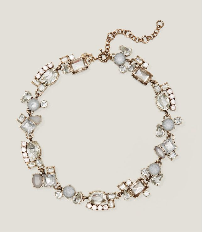 Thumbnail Image of Primary Image of Crystal Cluster Statement Necklace
