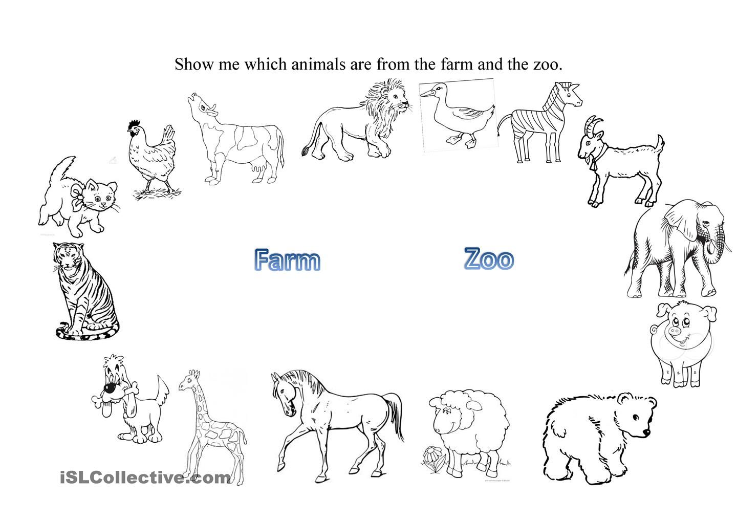 worksheet Animal Worksheets Esl farm and zoo animals pinterest zoos worksheets worksheet free esl printable made by teachers