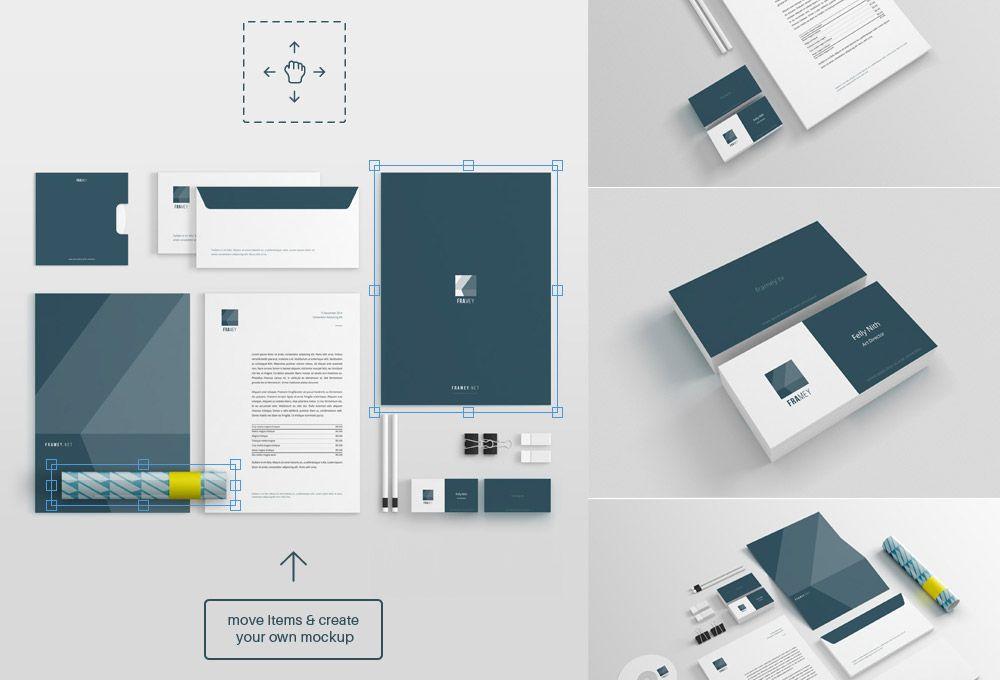 Free Stationery Mockup PSD | Mockup | Pinterest | Mockup