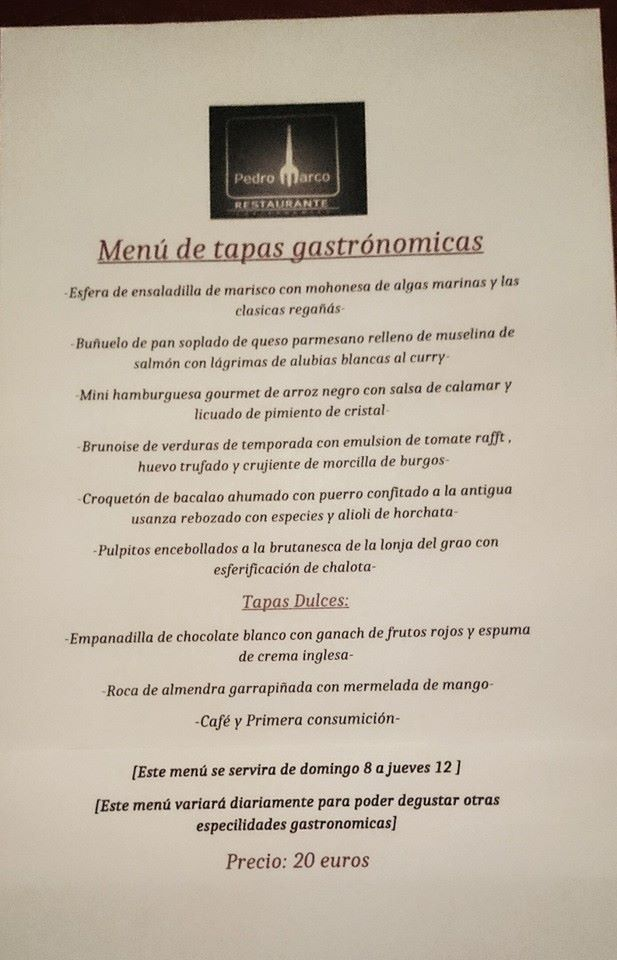 Restaurante Pedro Marco. Benicarló, Castellón de la Plana