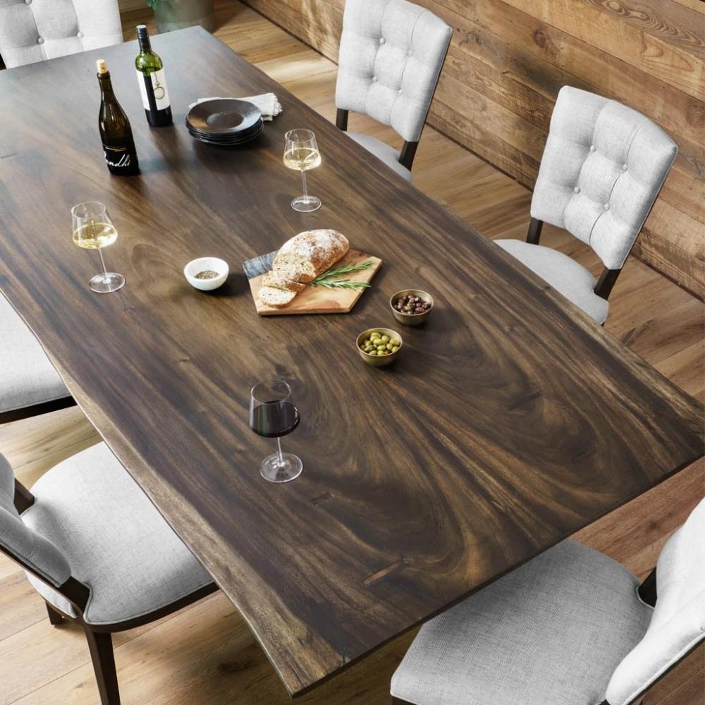 Rocky Dining Table Smoked Saman Slab Dining Tables Live Edge Wood Dining Table Live Edge Dining Table