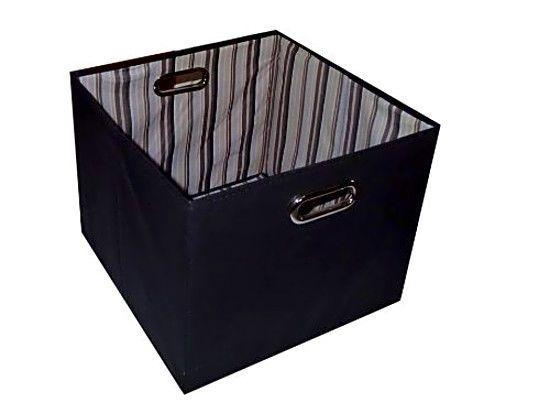 Folding Storage Bin Orginization Black 11Hx11Wx11D #StoragewithSytle