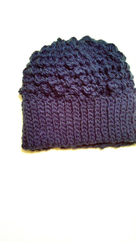 Comfy Soft Royal Blue Winter Hat by CrochetandMacrame on Etsy, $20.00