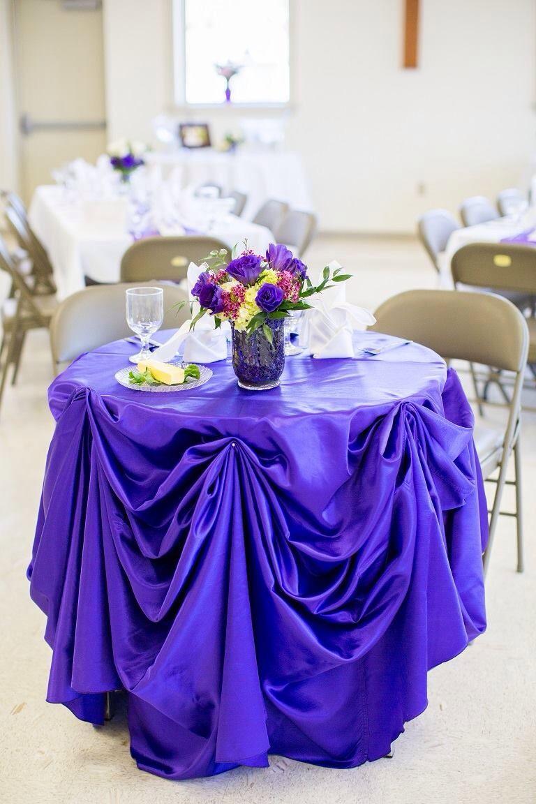 Bride and groom reception table decor Reception table