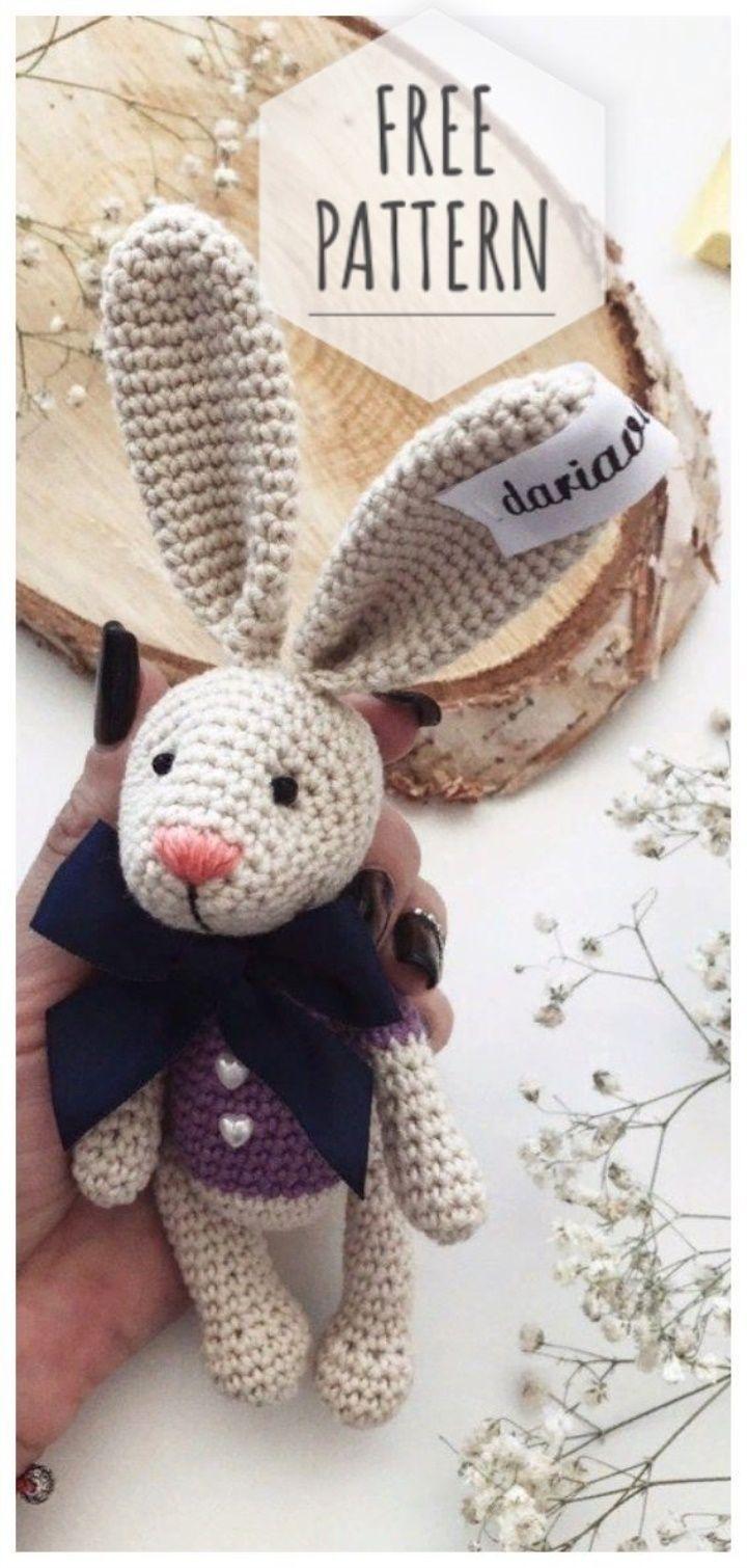 Amigurumi-Kaninchen frei Muster #amigurumifreepattern