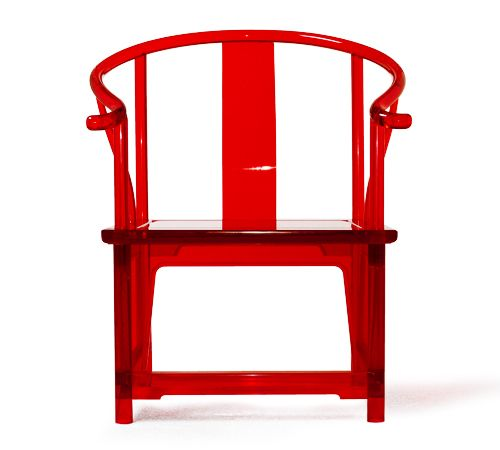 Chinese Acrylic Yoke Back Armchair All Modern Furniture Red