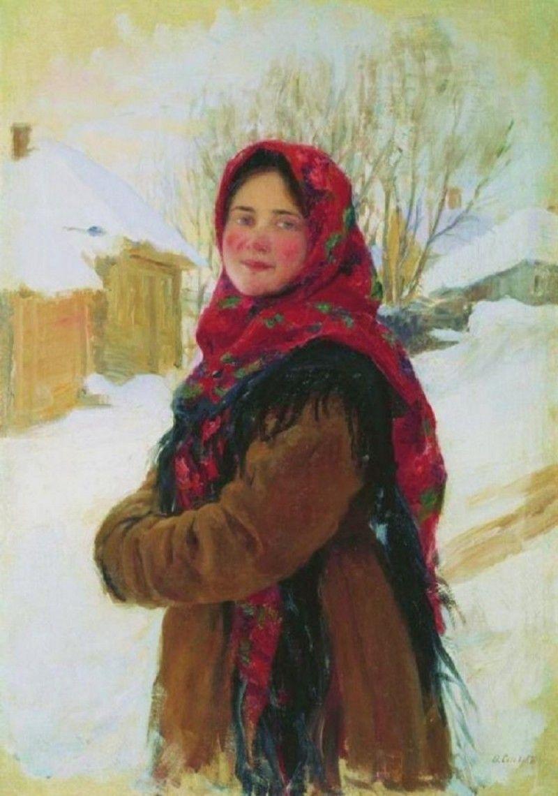 Αποτέλεσμα εικόνας για peasant russian girl painting