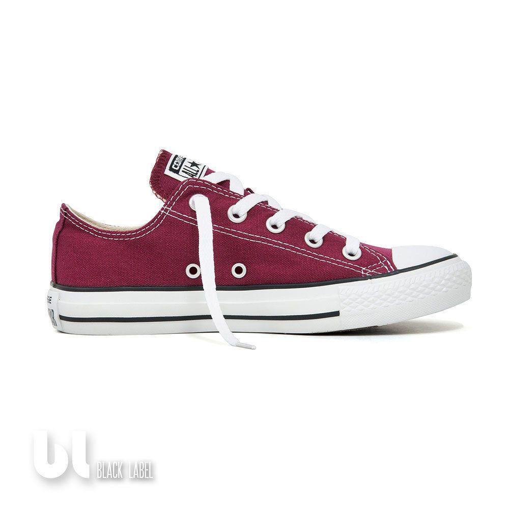 Chaussures Converse rouge bordeaux Fashion unisexe Couleur Pourpre Ballerines Ballerine Rouge Couleur Pourpre EVfM7