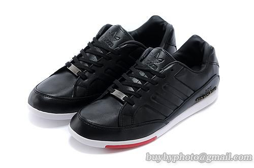 Men's Adidas Porsche Design 356 Racing Shoes Full Head Leather Black  Red|only US$68.00