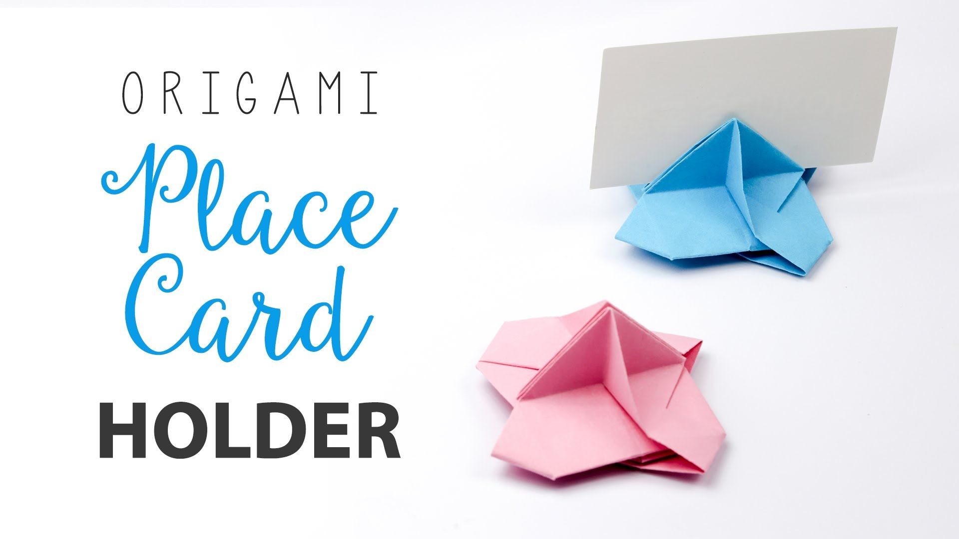 Learn how to make an origami place card holder for weddings ...