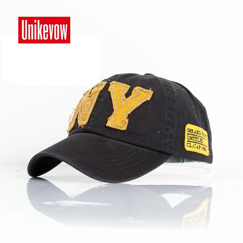 fashion cotton baseball cap snapback hat for men women Men s sun hat NY  embroidery caps spring. Sombreros Para HombreSombreros De HombreBordado Gorras ... ab6f3505500