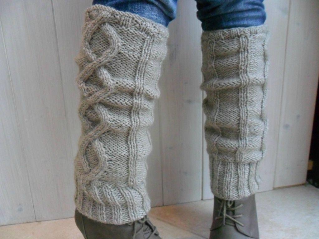 patron tricot gratuit jambiere