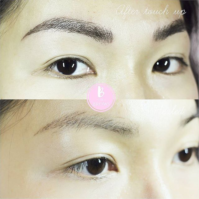 Microblading Eyebrows Done On Asian Skin What A Big Difference