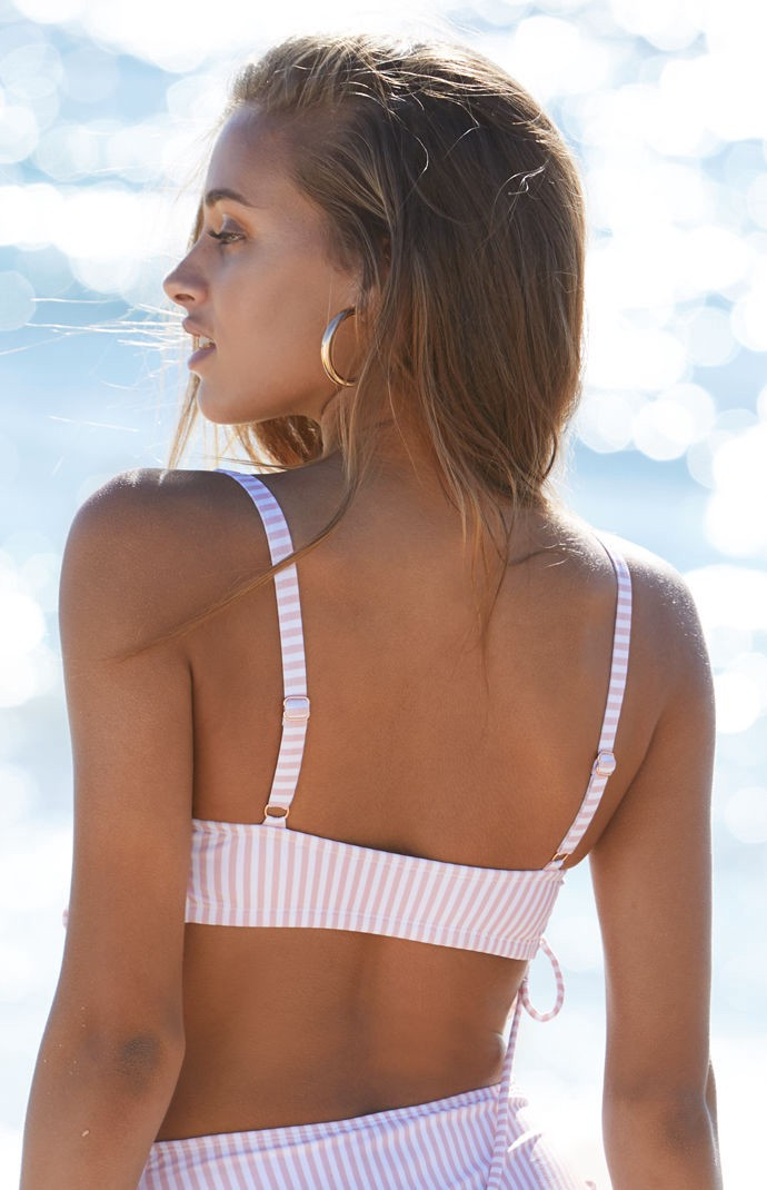 efcab970c7 La Hearts Side Lace-Up Cropped Bikini Top - Xxlrg