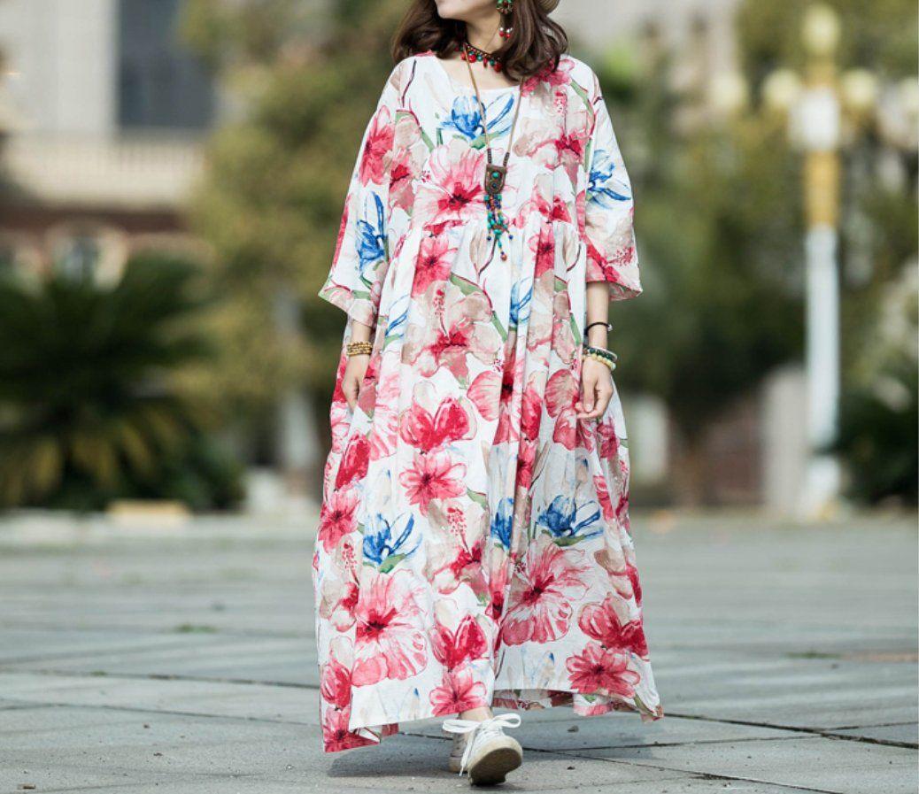 Women Cotton Long Dresses Plus Size Boho Maxi Dress Skater Etsy Maxi Dress Plus Size Maxi Dresses Maxi Dress Cotton [ 897 x 1038 Pixel ]
