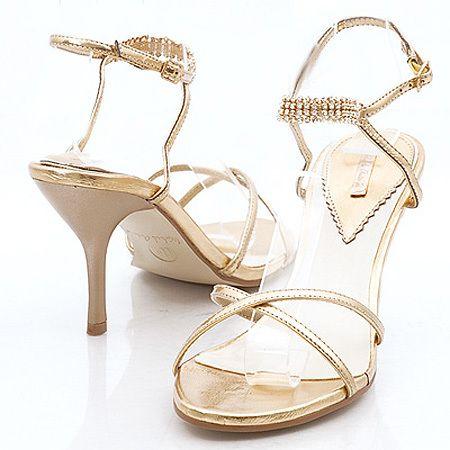 high heel gold wedding shoes  cherrymarry  gold wedding