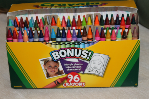 96 crayola crayons with all the vivid and quality colors in this set