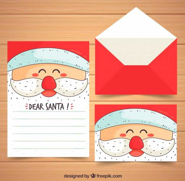 Hand Drawn Christmas Letter Template  Christmas Cards  Tarjetas