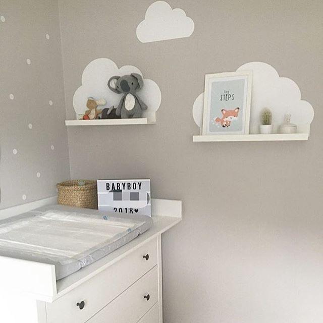 Wandtattoo Wolken für IKEA Bilderleiste – Farbe Weiß