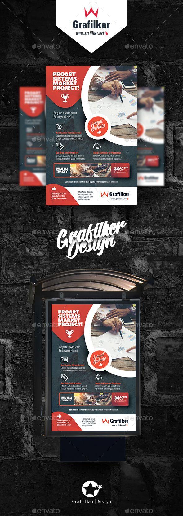 Marketing Poster Template PSD, InDesign INDD   Design Inspiration ...