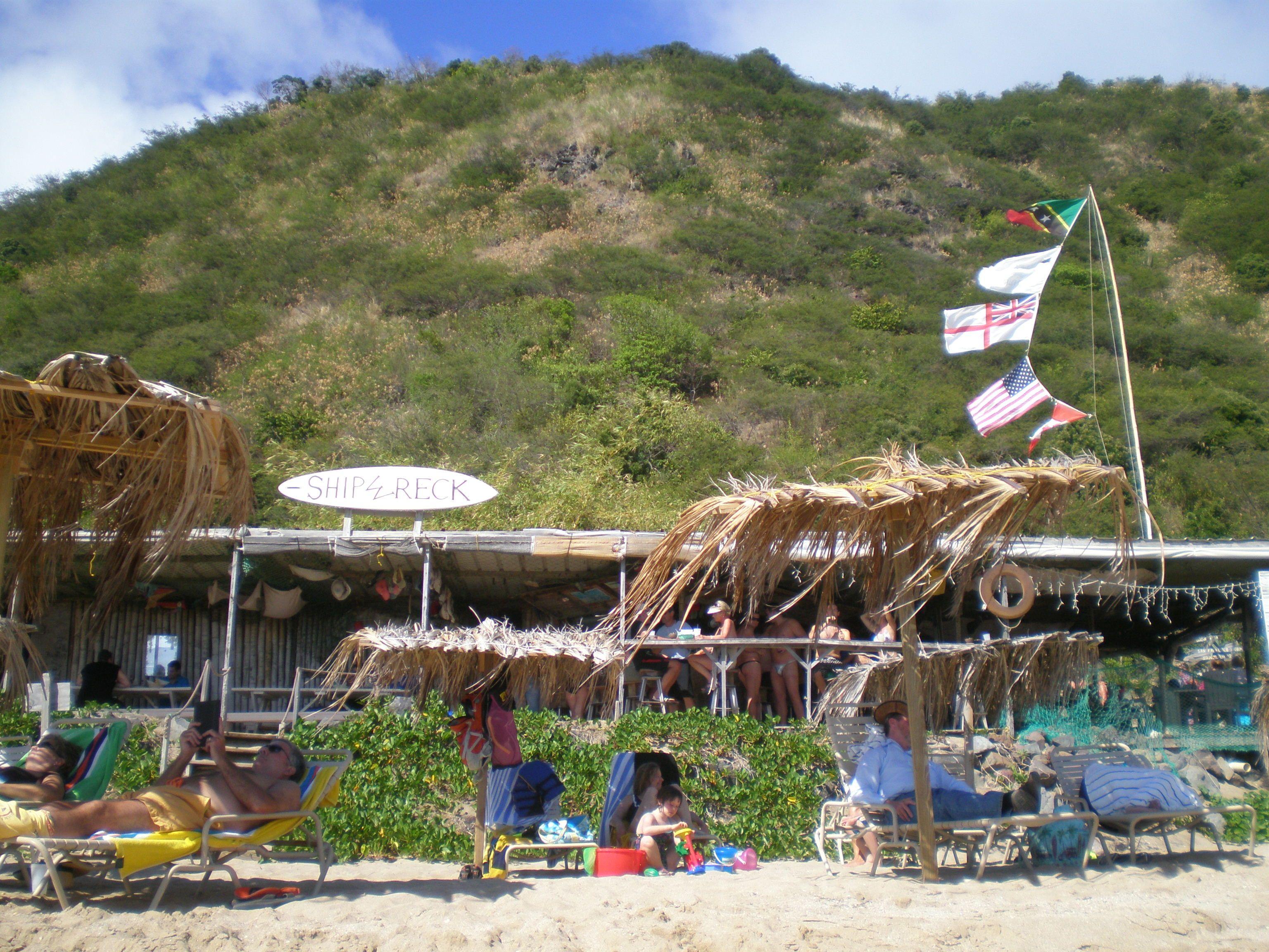 Shipwreck Beach Bar Grill St Kitts Caribbean