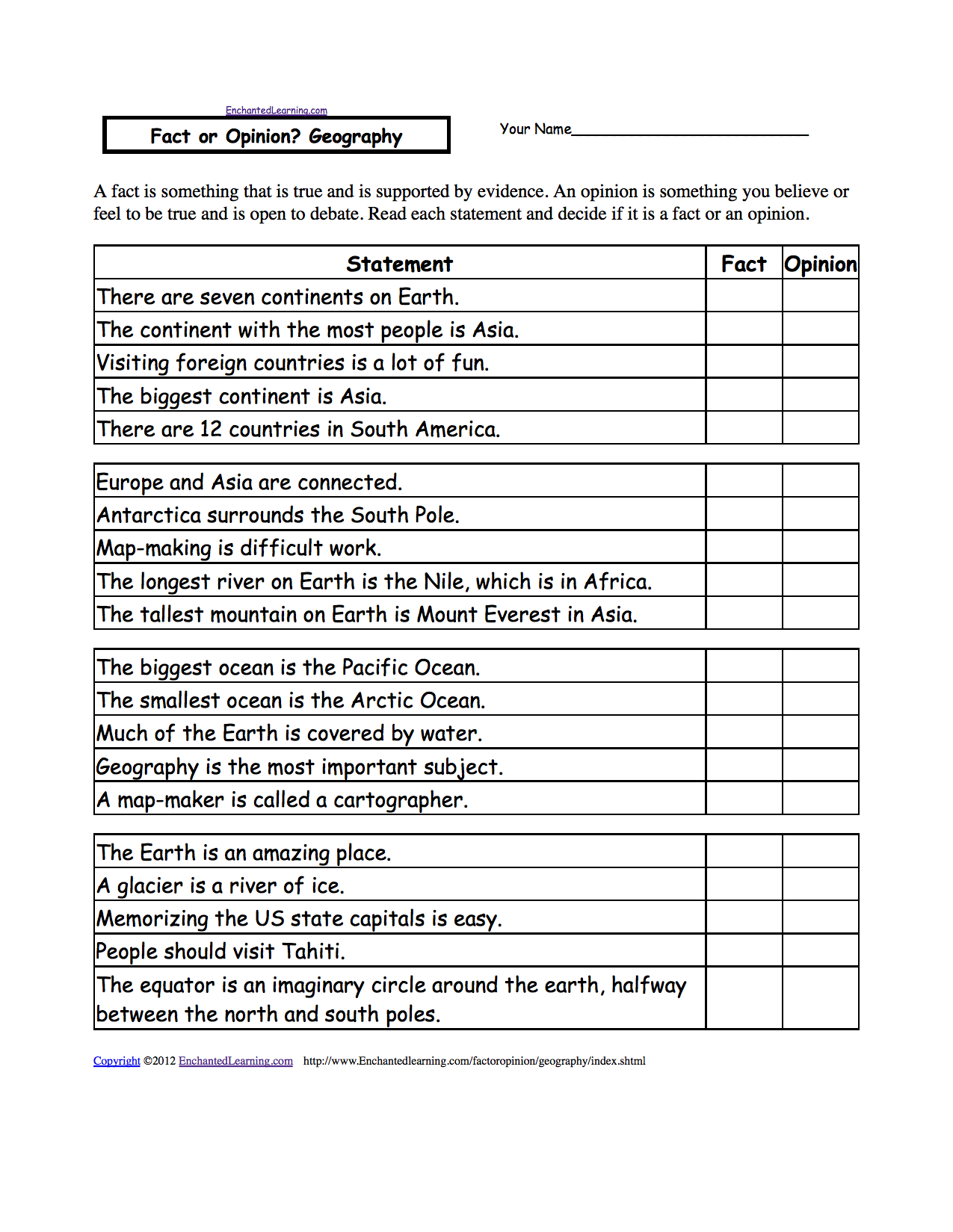 worksheet Geography Worksheets Year 7 five themes of geography worksheet google search school search