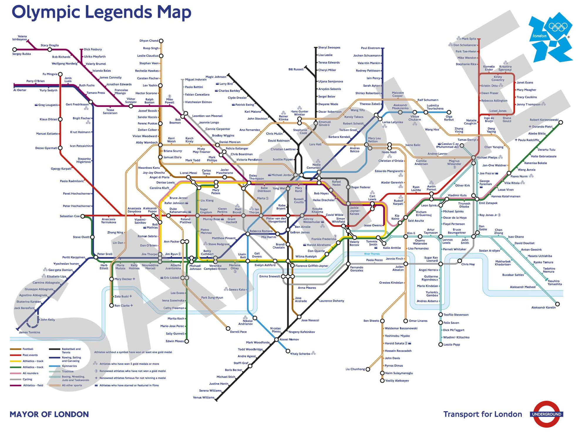 Transport For London Map.London Underground Olympic Legends Map Subway Map Underground