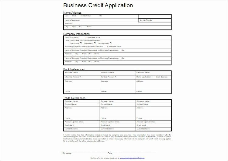 Credit Application Form For Business Lovely 24 Credit Application Form Templates Free Wor Application Form Downloadable Resume Template Nursing Resume Template