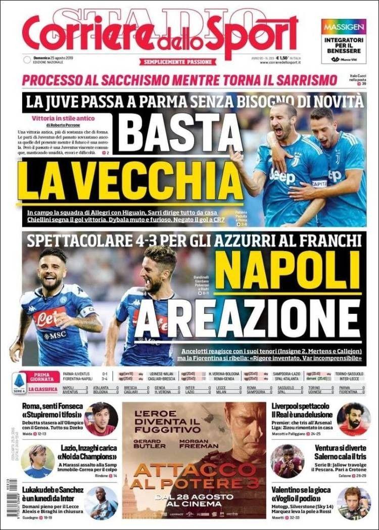 Corriere dello Sport (25 de agosto de 2019) 25 de agosto