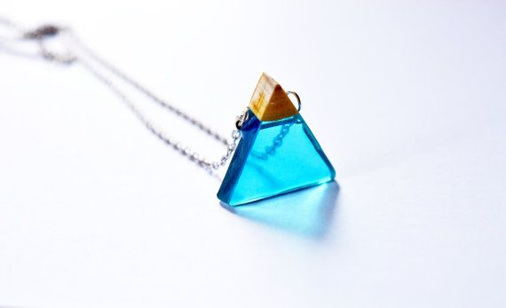 Jewelry Summer gift geometric blue jewelry pendant Yoga necklace gift Meditation Gift spiritual jewelry chakra necklace Gift minimal pendant