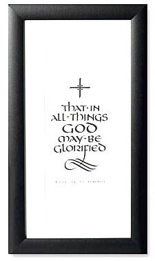 That In All Things God May Be Glorified Rule Of St Benedict Glorified Print Episcopalbookstore Com Rule Of St Benedict Be Glorified Episcopal Church