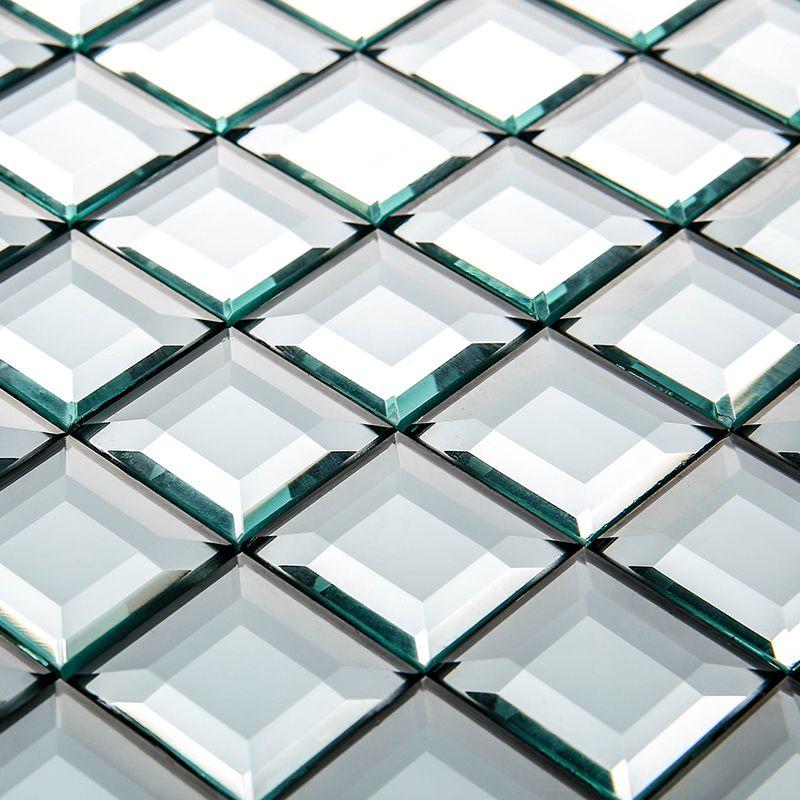 13 bordi smussati diamante di cristallo specchio mosaico - Piastrelle di vetro ...