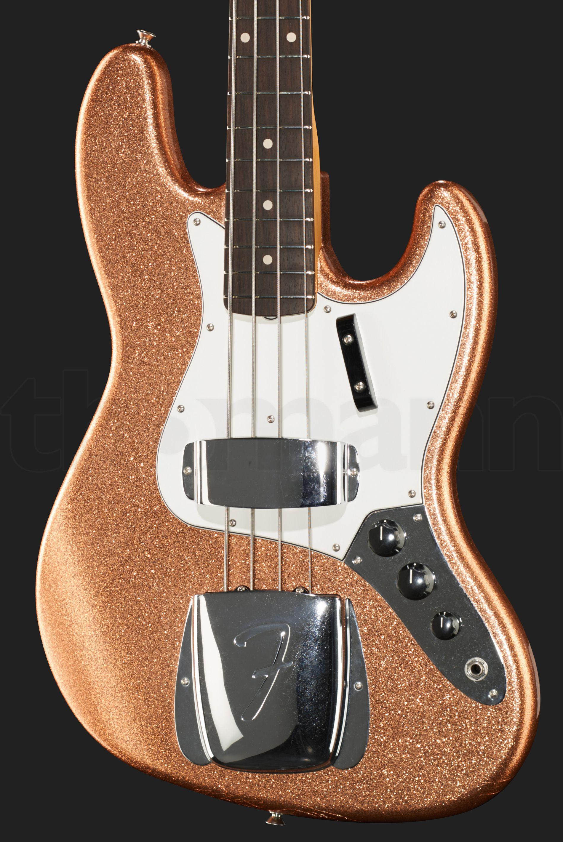 Fender 64 Jazz Bass Cc Co Spkl Bass Guitar Fender Bass Guitar