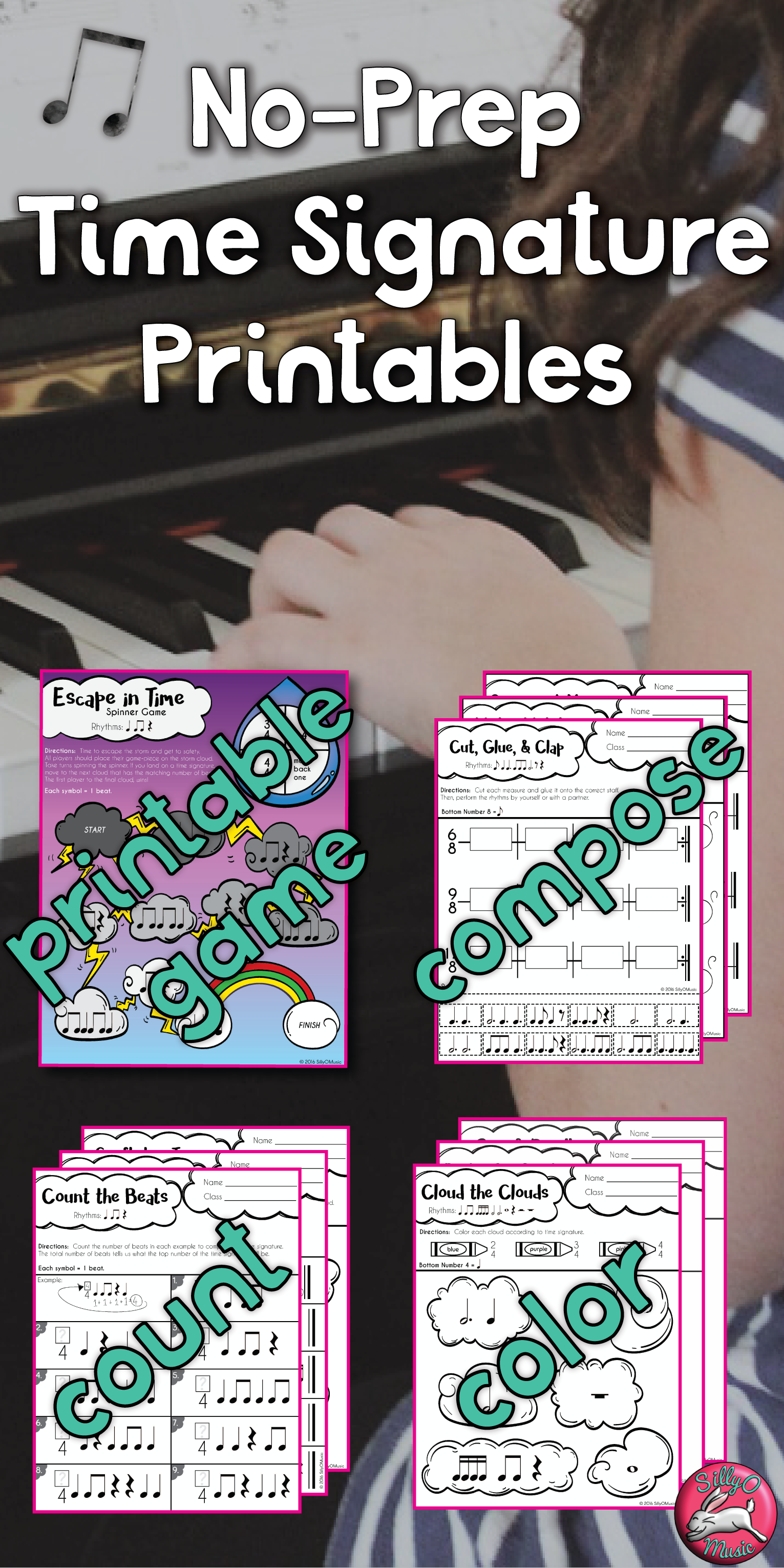 60 Time Signature Worksheets Different Levels Plus
