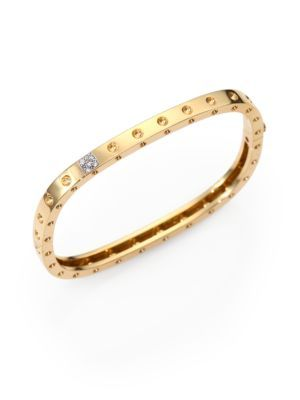 Roberto Coin Baroccio 18K Rose Gold Bangle Bracelet with Diamonds j5ndfml5