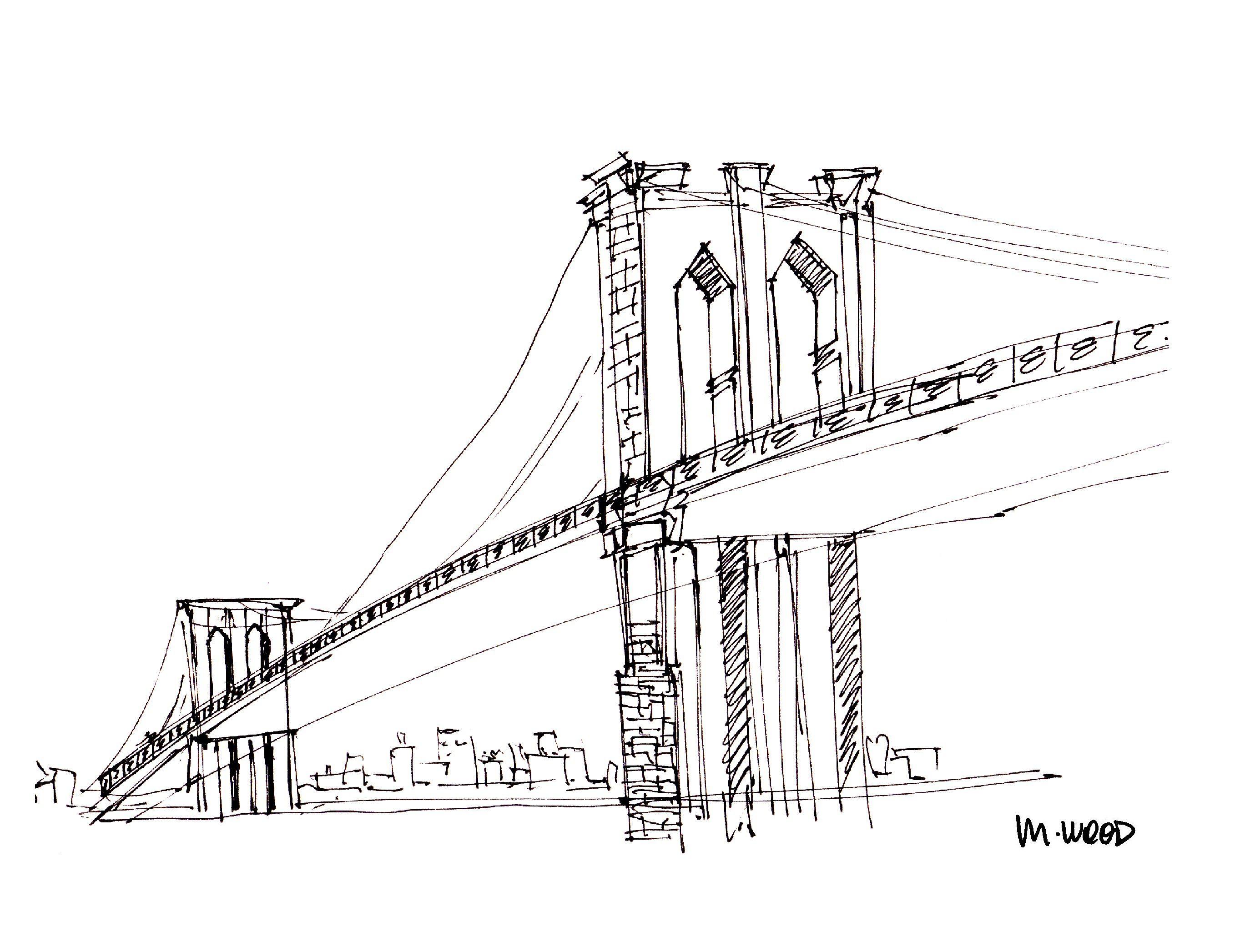 Sketch Perspective Sketch Bridge Drawing Sketches