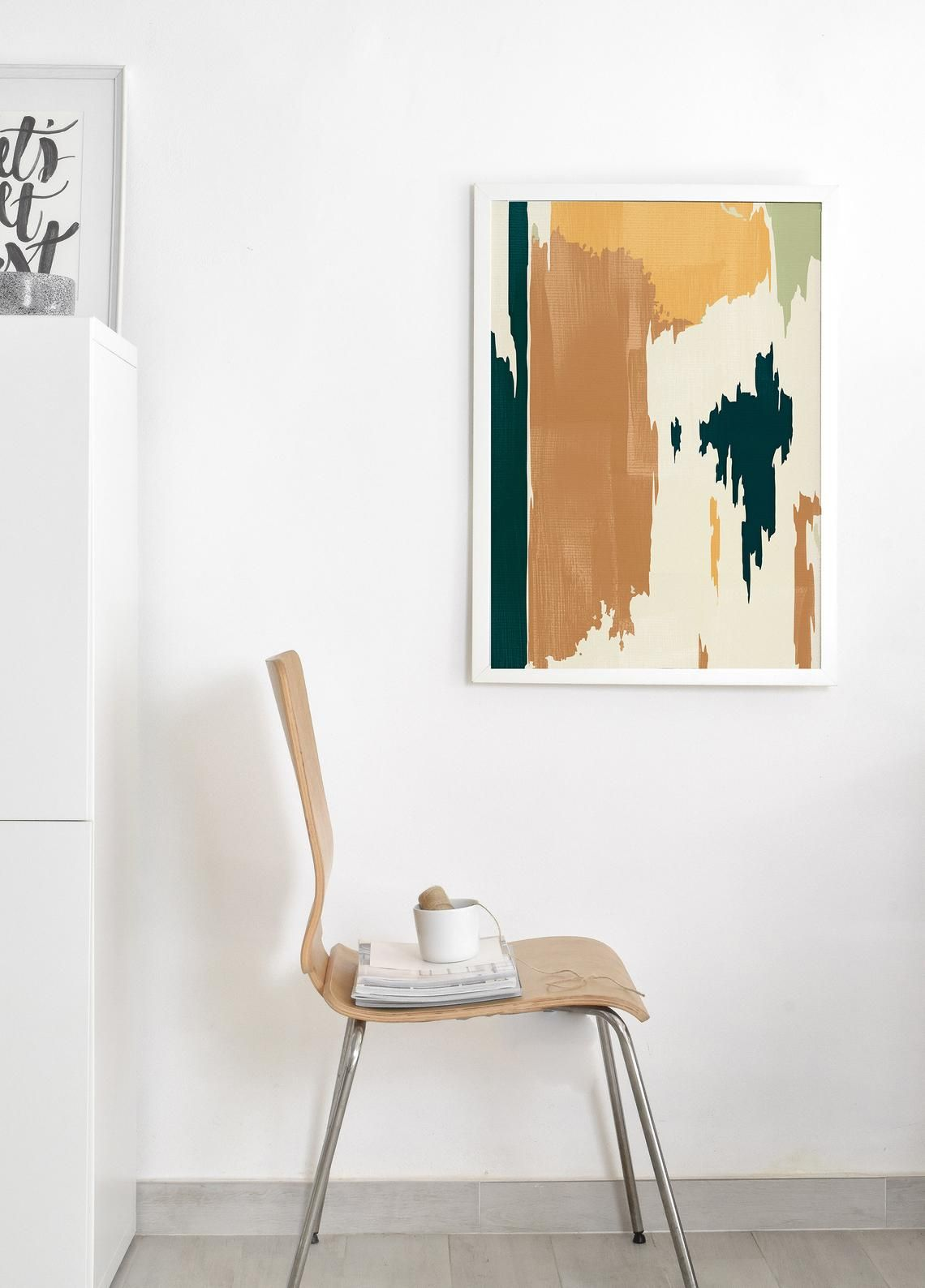 Abstract Scandinavian Painting Burnt Orange And Teal Mid Etsy Scandinavian Paintings Teal Wall Art Shipping Art Prints